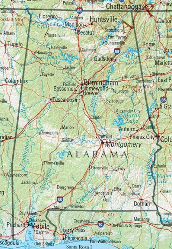 Map Keychain Selma Alabama Key Ring Fob | Etsy
