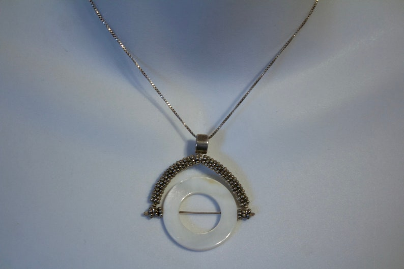 Bali Sterling Swivel Pendant with Mother of Pearl