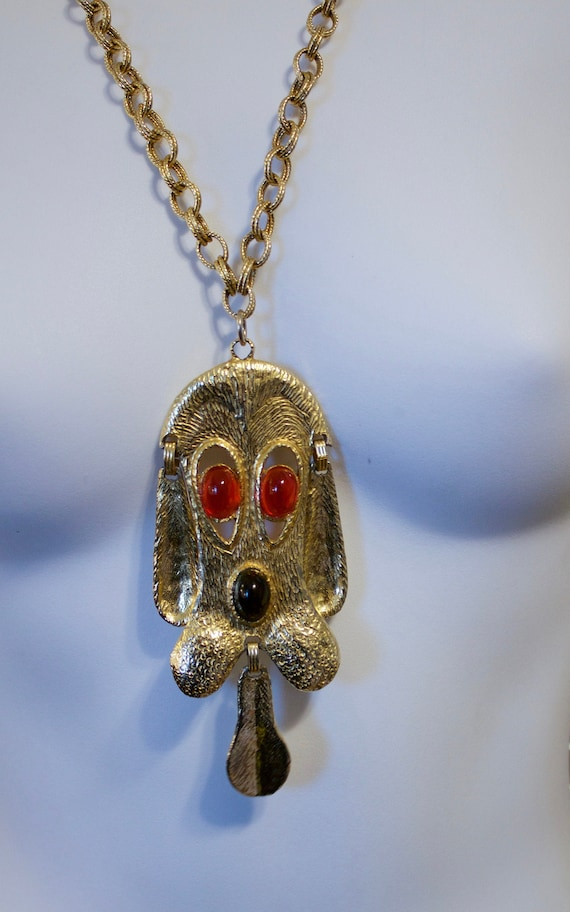 Vintage Juliana DEC Gold Plated Droopy Dog Pendant
