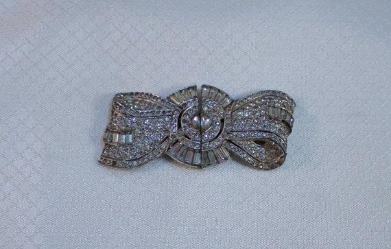 1930's Art Deco Rhinestone Dress Clips