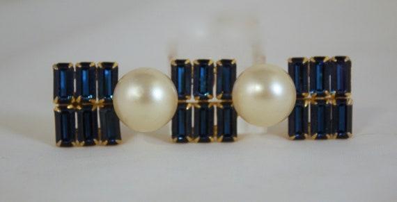 Designer Arnold Scaasi Sapphire Blue Rhinestones … - image 1