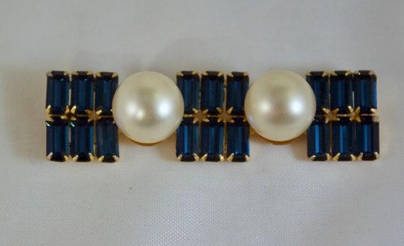 Designer Arnold Scaasi Sapphire Blue Rhinestones … - image 2