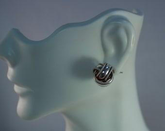Vintage Sterling Love Knot Earrings