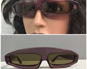 5726c335a75 RARE Vintage 1970s Thierry Mugler Cosmo Clear Purple Lucite Novelty Runway  Sunglasses Designer Eyewear   M L   New Wave Punk