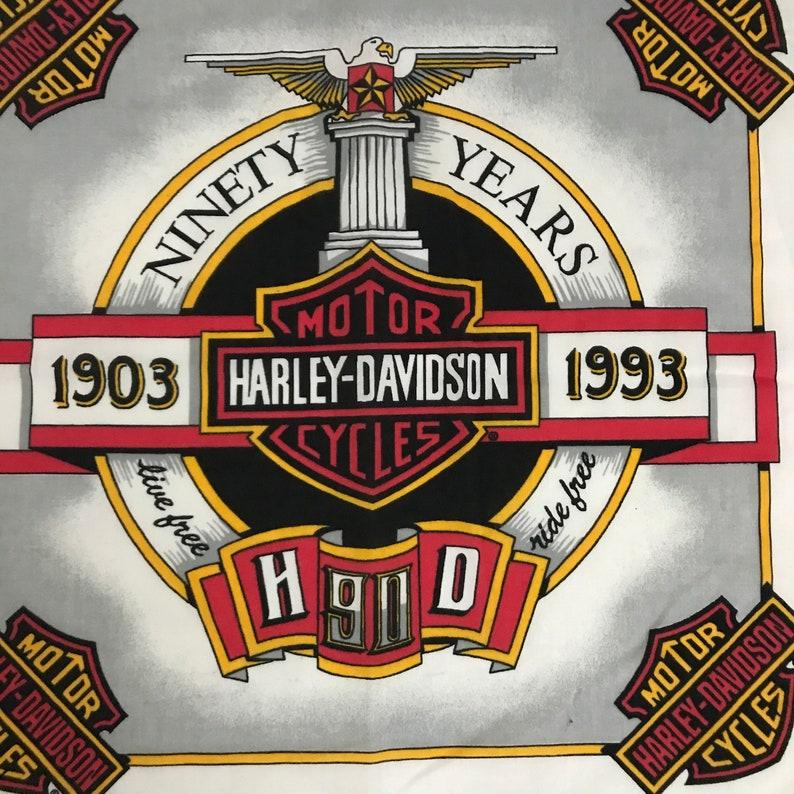 1990s Harley Davidson Bandana  90s Eagle Bold Graphic Bandana  Made in USA