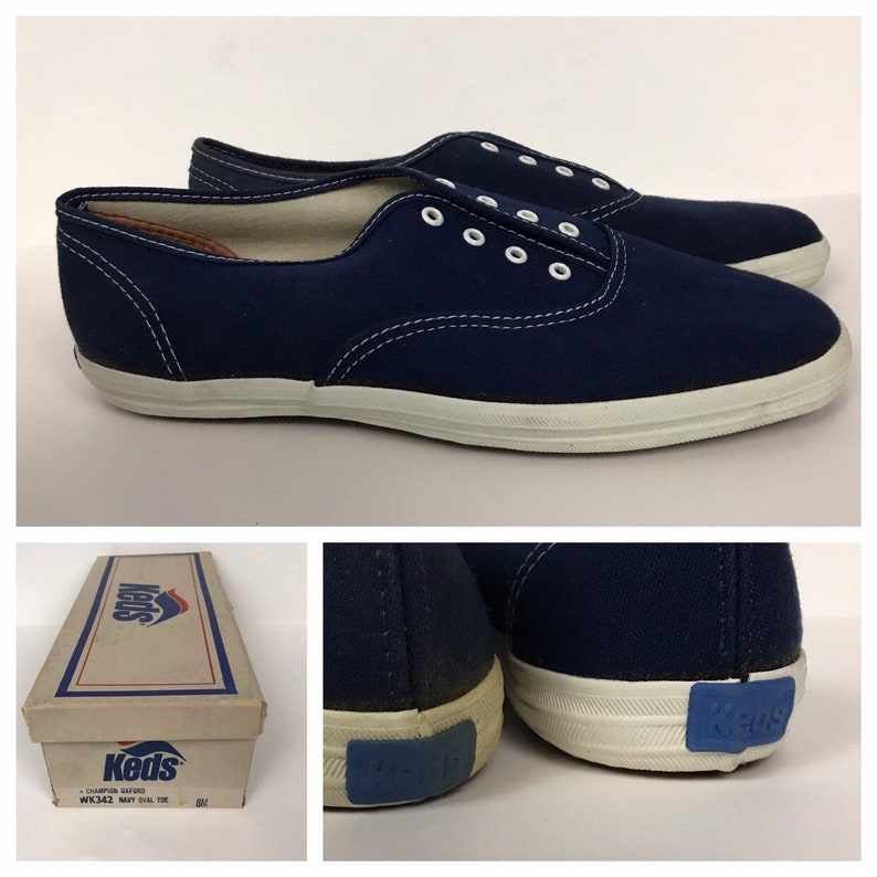 f98c6b3fb13 Vintage NOS Deadstock 1980s Keds Navy Blue Canvas Oxford Shoes
