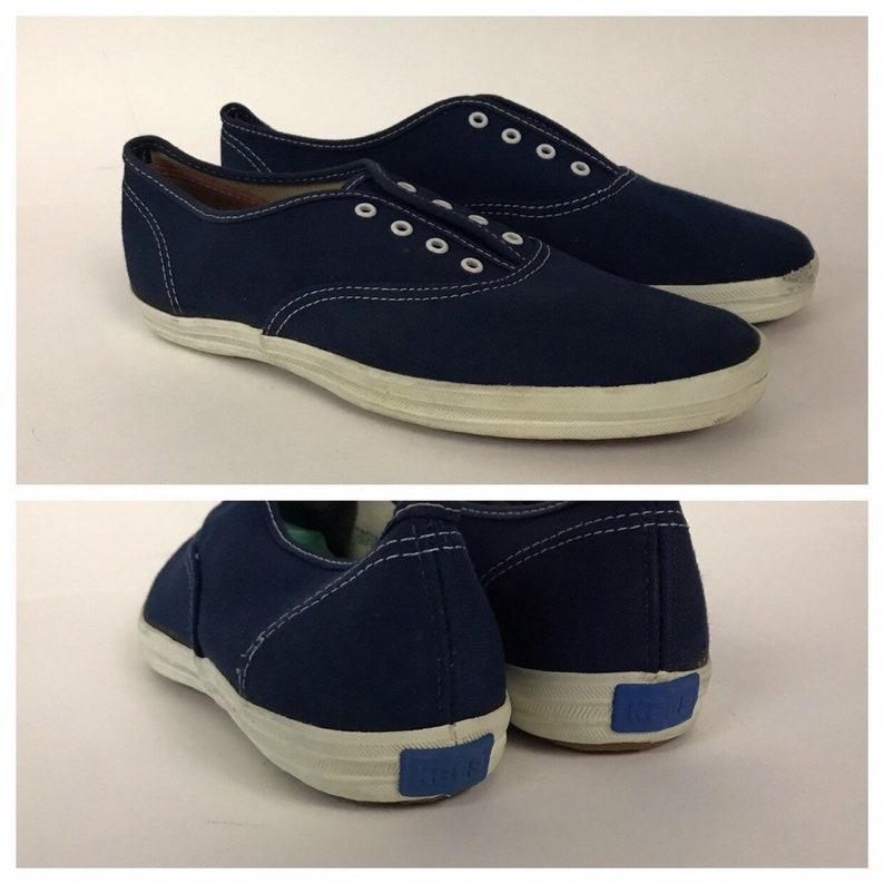 ab9a4d2d3c4 Vintage NOS Deadstock 1960s Keds Navy Blue Canvas Oxford Shoes