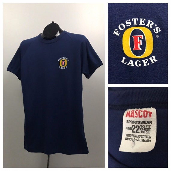 1980s Fosters Lager Beer Ringer T Tee Shirt / 80s