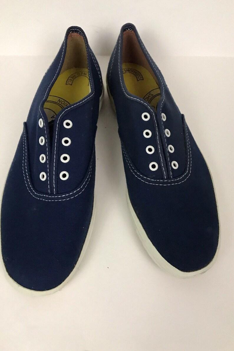 c47cf31d8d1 Vintage NOS Deadstock 1980s Keds Navy Blue Canvas Oxford Shoes