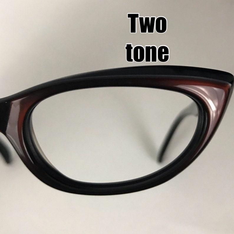 509d062c1a69 Vintage NOS 1950s Black Cherry Two Tone Cat Eye Cateye Glasses