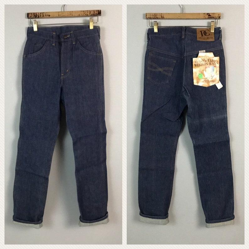 Vintage NOS Deadstock 1970s 1980s Dee Cee Dark Blue Indigo Denim Jeans  Men/'s 27x32  80s Western Jeans Straight Leg Unworn
