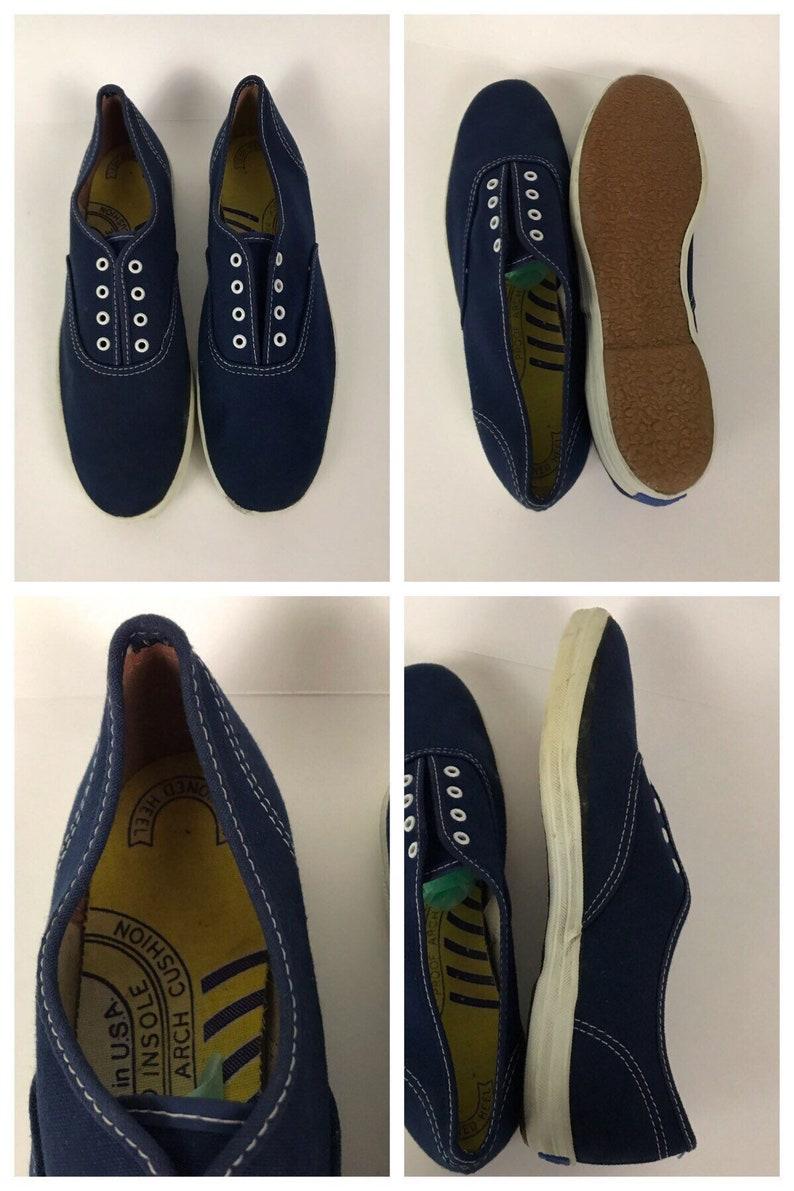 251668fe9af Vintage NOS Deadstock 1960s Keds Navy Blue Canvas Oxford Shoes