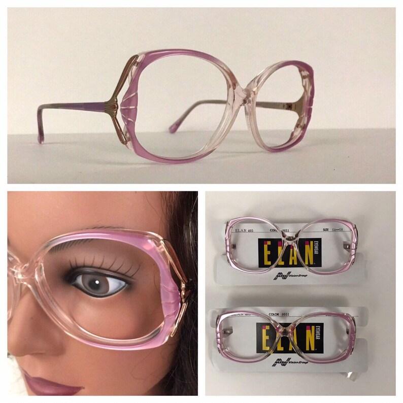 26d952f496e4 Vintage Lot 2 Pair 1980s Lavender Oversized Square Eyeglasses