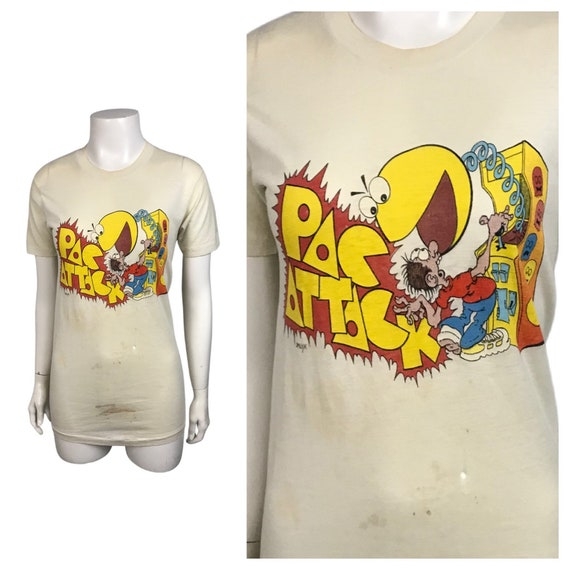 1980s Pac Man Tee Shirt /  Rare Pac Attack Video G