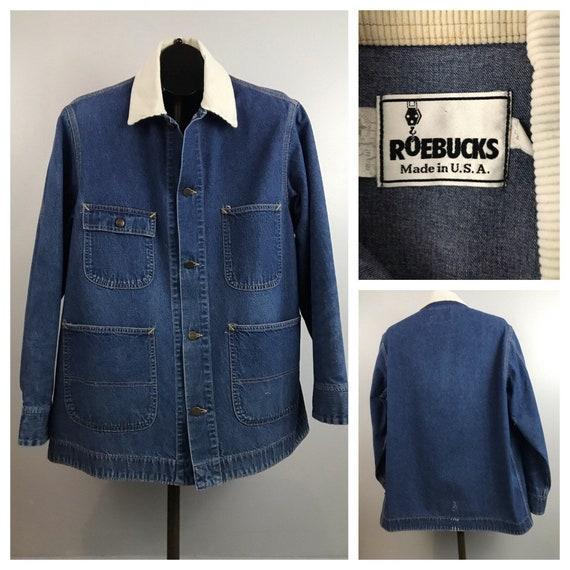 1980s Denim Barn Coat / 80s Blue Jean Roebuck's Ch