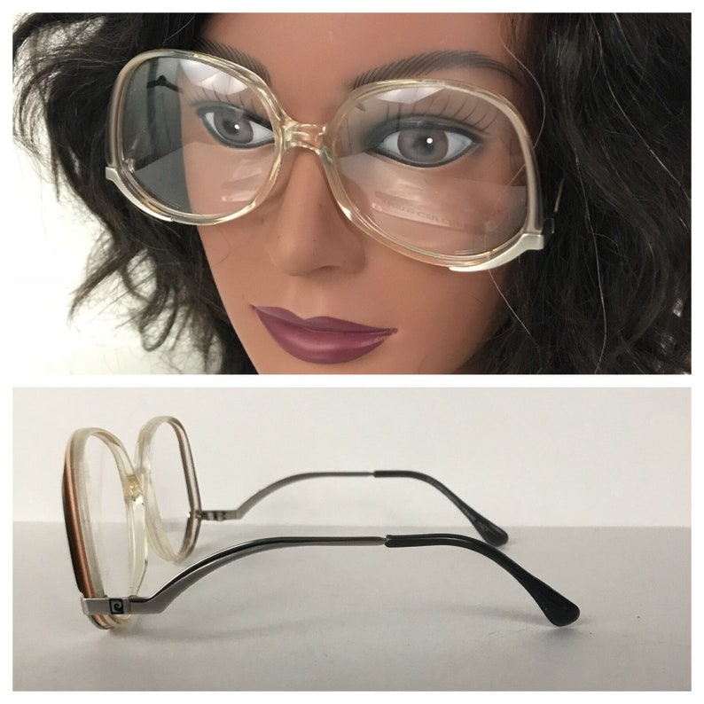f553e9b5a5ed Vintage NOS 1980s Pierre Cardin Silver Clear Oversized