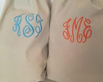 Monogrammed Cotton Laundry Bag