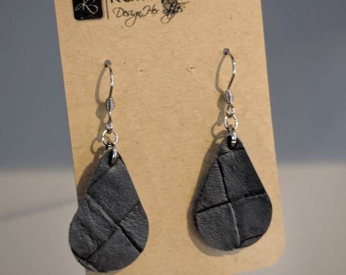 Faux Leather Dangle Earrings - Gift for Her - Modern Stylish Accessories for Women - Birthday Present - Gift for Mom