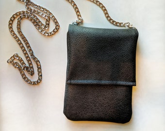 Faux Leather Phone Case Crossbody Bag - Birthday Present - Women's Accessories - Handbag Shop