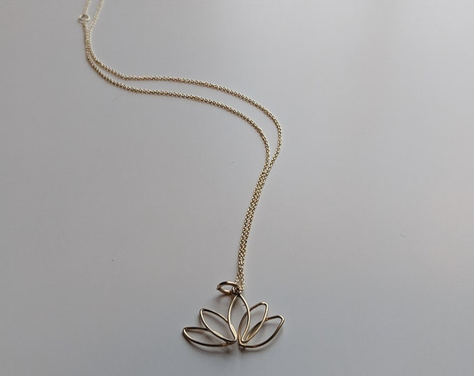 Lotus Flower Necklace - Gold Necklace - Great Gift for Women - Yoga Jewelry- Jewelry Gifts