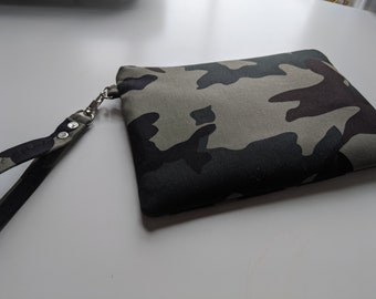 Fatigue Print Fabric Wristlet - Wristlet Wallet - Women's Accessories - Boutique Gifts - Gift for Her