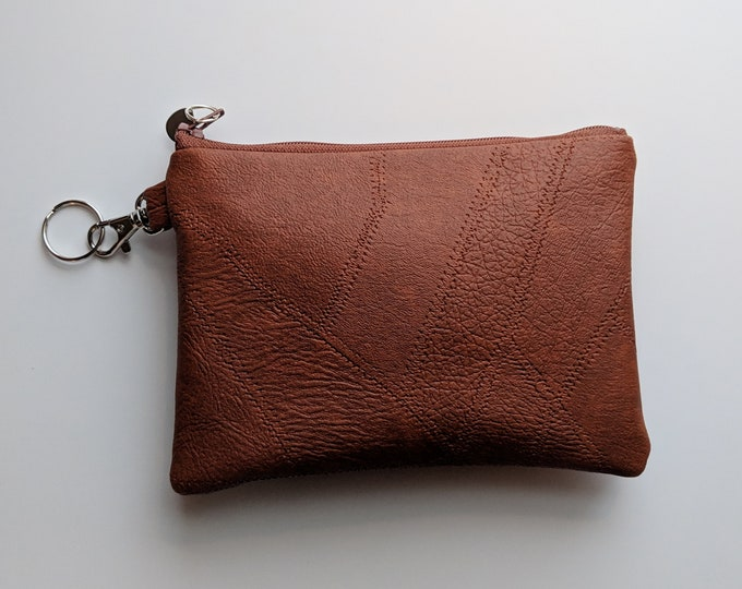 Faux Leather Key Chain Case - Gift Accessory for Women on the Go - Versatile Gift for Busy Mom - Handmade Accessory for Women - London Tan