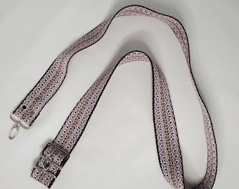 "Adjustable Purse Strap, Purple 1.5"" Cotton Webbing Purse Strap"