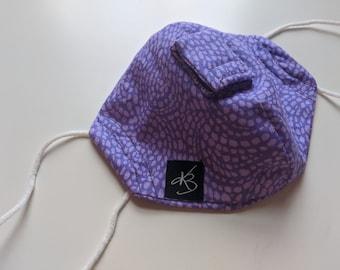 Cocktail Mask - Size Small/Medium - Purple Swirl - Fun Gift - Reusable Mask - Washable
