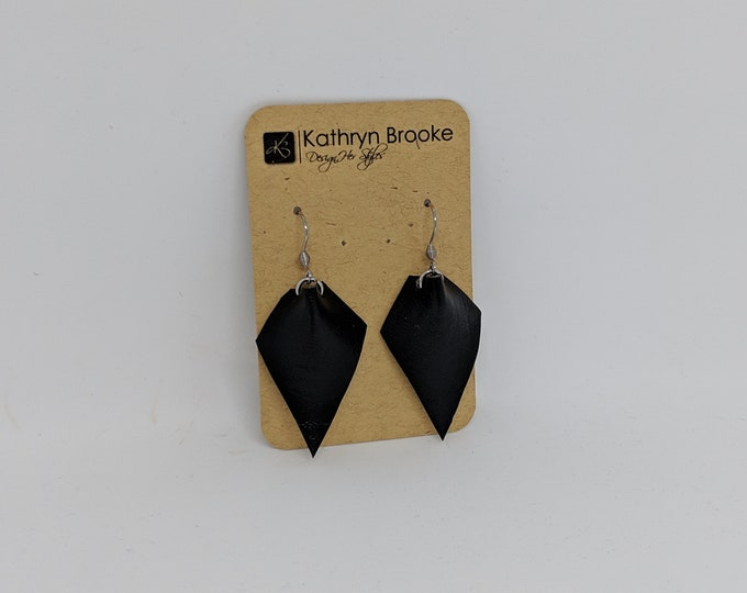 Faux Leather Dangle Earrings - Modern Stylish Faux Leather Accessories for Women - Birthday Gift for Women - Women's Modern Earrings