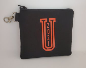 U 2021 Key Chain Pouch with Hook, PSG Fundraiser 2021, Gift Accessory, Accessory for Women