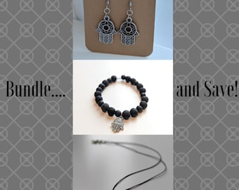 Bundle of Goodies - Earrings, Bracelet and Necklace Bundle - Deal Bundle - Gift for Her - Birthday Present