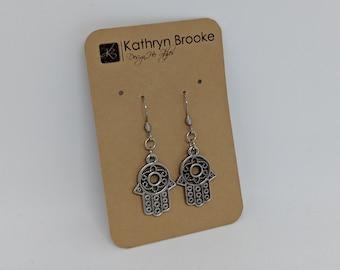Hamsa Hand Earrings - Women's Fashion Jewelry - Zen Jewelry Line - Birthday Present for Her - Gift for Friend - Yogi Jewelry