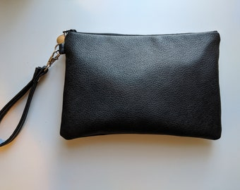 Faux Leather Wristlet for Women - Handbag Shop - Fashion for Her - Birthday Present