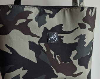 Camouflage Print Fabric Tote