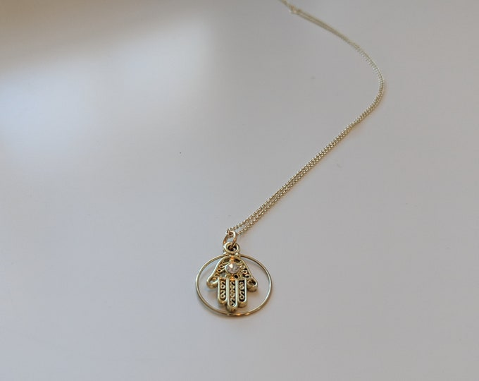 Hamsa Necklace - Gold Necklace for Women - Yoga Jewelry - Great Gift Idea - Birthday Present - Gift for Her- Jewelry Gifts