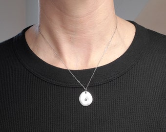 Personalized Necklace with Round Pendant