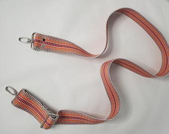 "Adjustable Bag Strap, Orange/Multi Color, 1.5"" Cotton Webbing Purse Strap29"" - 51"" Length/Camera Strap/Adjustable Length"