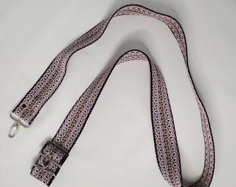 """Adjustable Bag Strap, Purple 1.5"""" Cotton Webbing Purse Strap"""