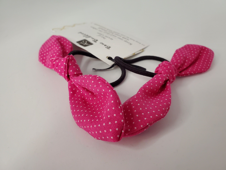 polka dot fabric bow