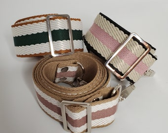 Adjustable Bag Strap Bundle, Stripes, Stripes and More Stripes, Three Replacement Straps, Straps for Bag or Camera