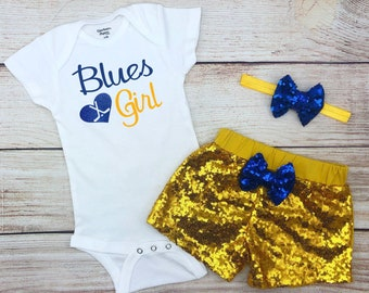 5b7bf96692a Blues Girl Hockey Game Day Outfit