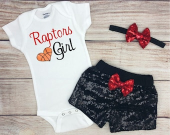 444bb04c7ef5 Raptors Girl Game Day Outfit