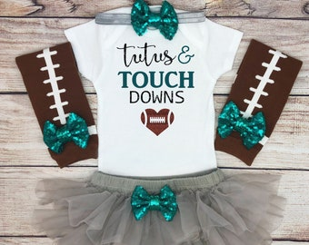 207352764 Tutus and Touchdowns Baby Girl Football Outfit