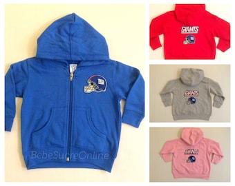 6c0f6e916 New York Giants Zip Up Fleece Hoodie - Baby and Toddler Sizes