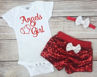 Angels Girl Baseball Game Day Outfit 0dd9e3d53