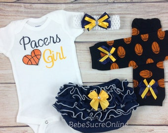 Pacers Girl, Baby Basketball Outfit, Cheerleader Game Day Outfit