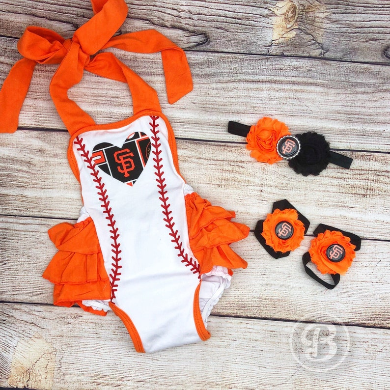 728ebfd37 San Francisco Giants Baby Girl Romper SF Giants Baby Clothes | Etsy