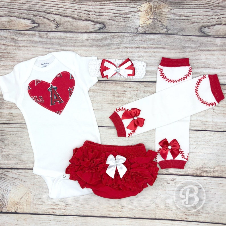 Los Angeles Angels of Anaheim Baby Girl Game Day Outfit  c8107c1c5
