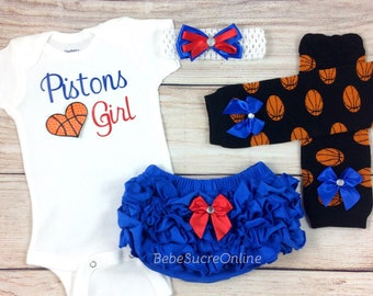 Pistons Girl, Baby Basketball Outfit, Cheerleader Game Day Outfit