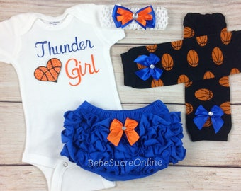 Thunder Girl, Baby Basketball Outfit, Cheerleader Game Day Outfit